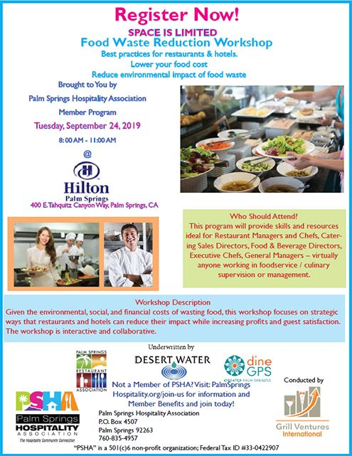 Palm Springs Hospitality Association - Food Waste Reduction